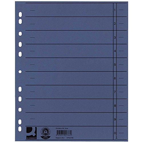 Q-Connect KF02786 Trennblätter - A4 Überbreite, 100 Stück blau