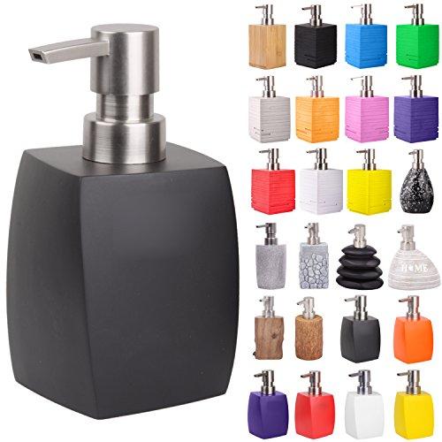 Seifenspender   viele schöne Seifenspender zur Auswahl   elegantes, stylisches Design   Blickfang für jedes Badezimmer (Wave Schwarz)