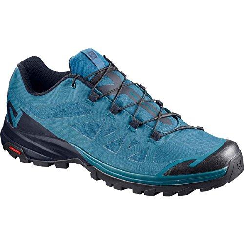 Salomon OUTpath, Zapatillas de Senderismo para Hombre, Azul (Moroccan Blue/Navy Blazer/Black 000), 42 2/3 EU