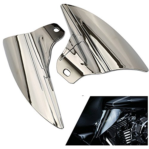 ECLEAR Saddle Shield Heat Deflector For Harley Touring Electra Glide Trike 2009-2015 - Chrome