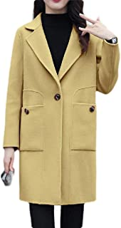Women's Winter Casual Outwear Thick One Button Peacoats Overcoats