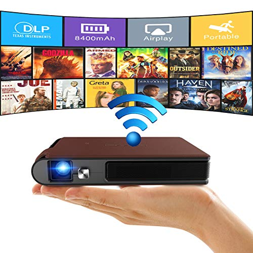 Mini Outdoor 3D Projector Mobile Wireless WiFi DLP Home Theater Full HD...