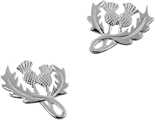 Sterling Silver Scottish Thistle Silver Earrings
