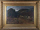 Sulis Fine Art John Davidson (fl. 1881-1895) - Aceite de finales del siglo XIX, Al final del Glen