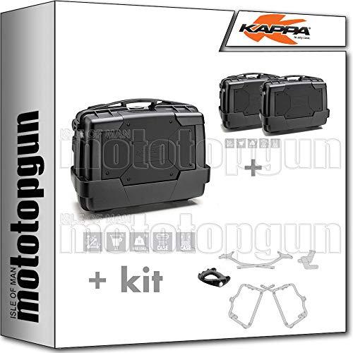 KAPPA KGR33N - Maletín con maleta lateral, maleta KGR33NPACK2, portaequipajes y portaequipajes laterales, monociclo, compatible con Yamaha FZ6 600 FAZER S2 2007 07