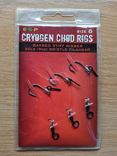 ESP Cryogen Chod Rig With Bait Screw Barbed OR Barbless: Barbed 6