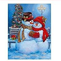 500ピース木製ジグソーパズル クリスマススノーマンカップル大人子供のゲームおもちゃのストレスリリーフパズル