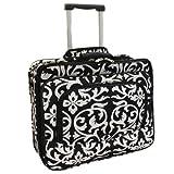 Ladies Damask Rolling Computer Laptop Bag Brief Case -- FITS A 13', 14', 15', 16' OR 17' LAPTOP (MEASURED CORNER TO CORNER DIAGONALLY)