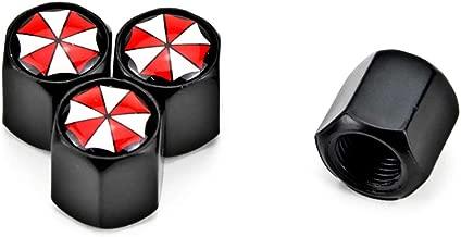 4PCS Fashion Umbrella Logo Sign Car Wheels Tires Parts Valve Stems Caps Covers Automobiles & Motorcycles SUV Truck Auto Replacement (4pcs Umbrella Black)