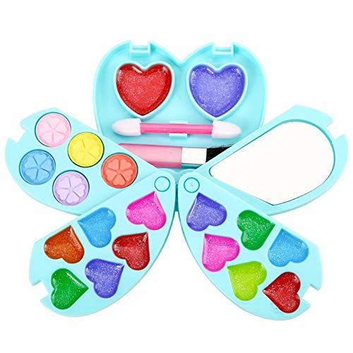 Juego de maquillaje para niños y niñas, lavable, para disfraces, maletín de cosmética para niños, kit de maquillaje, juego de rol, juguete para regalo a partir de 3, 4 y 5 años