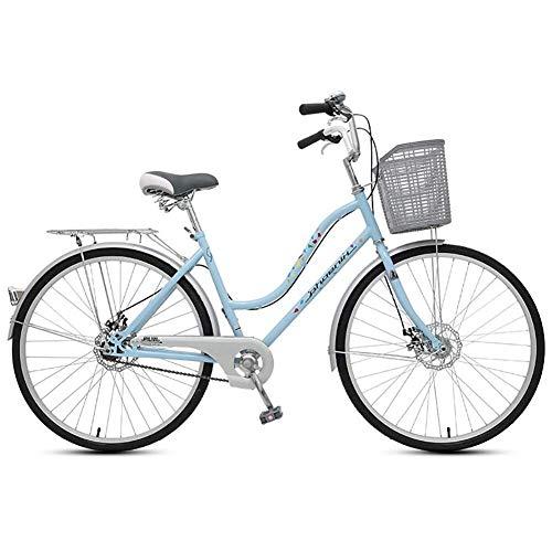 CHHD Bicicleta de Viaje para Mujer, Bicicleta para Adultos, Retro, para Estudiantes,...