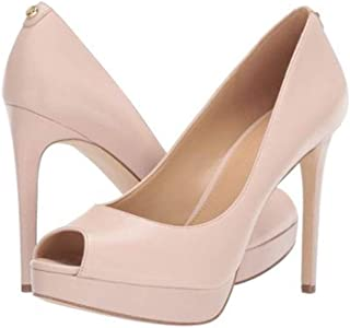 Michael Michael Kors Womens Erika Leather Peep Toe Classic Pumps, Pink, Size 9.5