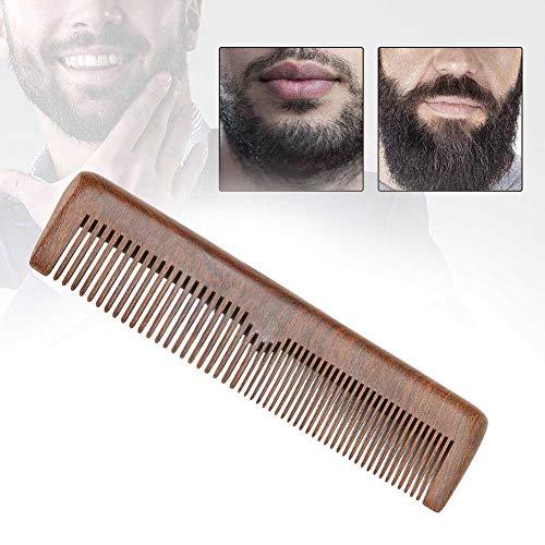 Peigne à barbe, Peigne à barbe pour homme portable Bois de santal Barbe antistatique Moustache Coiffure Peigne Barber Styling Beauty Tool pour Moustache et barbe