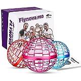 FLYNOVA PRO Flying Orb, Mini Drone Flying Ball Intégré RVB LED Spinner Rotatif à 360 ° UFO, Jouet Volant Magique pour Enfants Adultes Extérieur Intérieur (Rose)