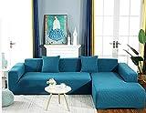 Lxylllzs Funda para sofá de 2 plazas, funda universal de sofá de tela...