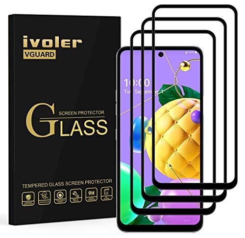 ivoler 3 Stücke Panzerglas Schutzfolie für LG K62 / LG K52 / LG K42, [Volle Bedeckung] Panzerglasfolie Folie Hartglas Gehärtetem Glas BildschirmPanzerglas für LG K62 / LG K52 / LG K42