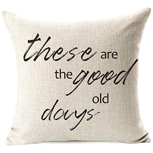 963RW - Fundas de almohada para casa de campo (18 x 44 cm), diseño de 'The Good Old Days'
