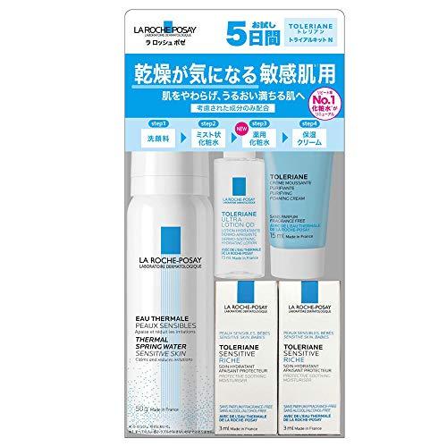 La Roche-Posay(ラロッシュポゼ) 【乾燥が気になる敏感肌用1】スキンケアトライアルセット たっぷり5日間分(洗顔料・プレ化粧水・薬用化粧水・保湿クリーム入り) 15ml+50g+15mL+5.6g