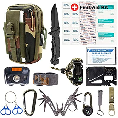 MASTER SOS Survival Emergency Kit, Jungle Camouflage