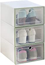 Ktyssp 3PCS Foldable Shoe Storage Boxes Shoe Organizer Transparent Plastic Shoe Storage