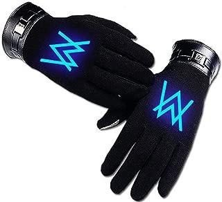 Alan Walker Cosplay Accessories Black Glowing Gloves
