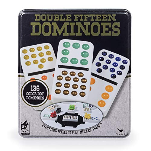 Double Fifteen Color Dot Dominoes Game...