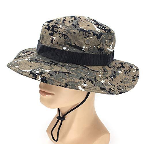 QQYZ Militar Camuflaje Boonie Sombrero Aire Libre Sombreros De Cubo De