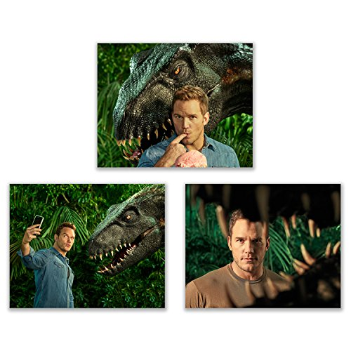 Summit Designs Jurassic World Fallen Kingdom Chris Pratt Fan Poster Fotos – 3 (20 x 25 cm)