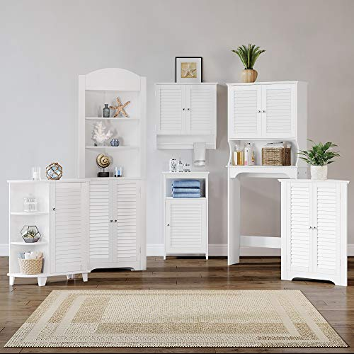 RiverRidge Ellsworth Collection 3-Shelf Corner Cabinet, White