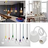 Princeway Farbe Silikon Decke Hängende Beleuchtung Befestigung- Europäische Moderne IKEA Stil- DIY Einfache Installation für Beleuchtung für Zuhause in Küche, Esszimmer, Wohnzimmer, Kinderzimmer und Restaurant (Weiß)