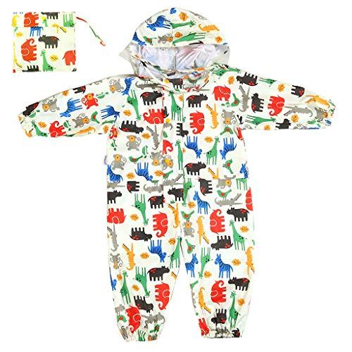 Vine Unisex Enfant Manteau Imperméable Combinaison Ponchos de Pluie avec Capuche