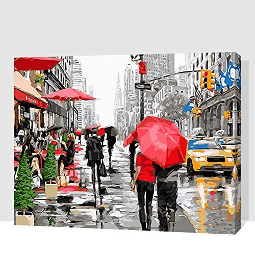 Nueva York Ocupada Calle Pintura Pintura Por Números Diy Lienzo Pintado A Mano Pintura Para Decoración Del Hogar