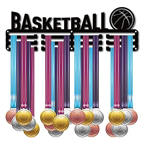CREATCABIN Soporte para Medallas de Baloncesto Soporte de Exhibición de Medallas Colgador de Pared Decoración Porta Medallas para Deportes Hogar Gimnasia Más de 60 medallas