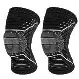 DDHH DDHH - Rodillera de compresión con almohadilla de gel de rótula y estabilizadores laterales de resorte, para meniscos, artritis, correr, deportes, correr, hombres y mujeres