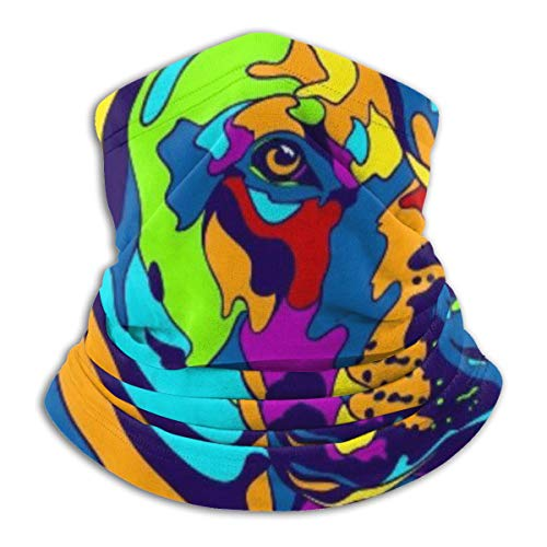 Multi-Color Rhodesian Ridgeback Dog Neck Gaiter Tube Scarf UV Resistant Sport Headwear Cold Weather Winter Warmer Face Mask for Unisex Outdoor Fishing Hiking Running Cycling Balaclavas