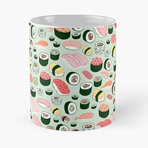 Sushi Mint Food Sashimi Kristin Nohe Juchs Mug Coffee Mugs - Best 11 oz Kaffee-Becher - Tasse Kaffee Motive