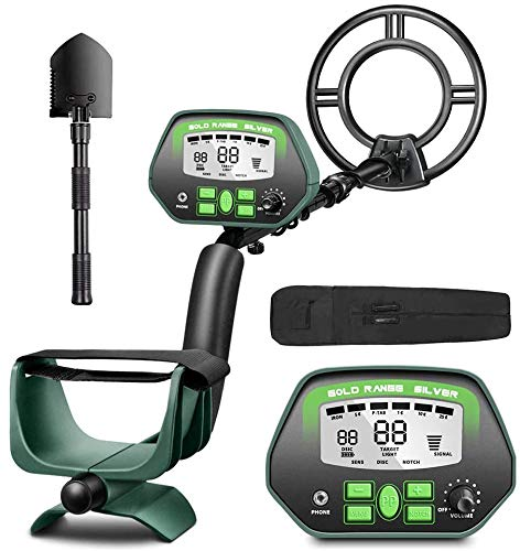 "RM RICOMAX Metal Detector for Adults- IP68 Waterproof Metal Detector, High Accuracy, [All & Disc & Notch & Pinpoint Modes], 10""Waterproof Search Coil, Adjustable Light"