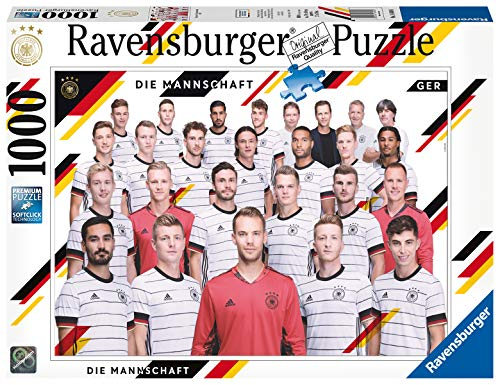 Ravensburger Puzzle 16480 - EM 2020 - 1000 Teile Puzzle für Erwachsene und Kinder ab 14 Jahren, DFB Puzzle der deutschen Nationalmannschaft