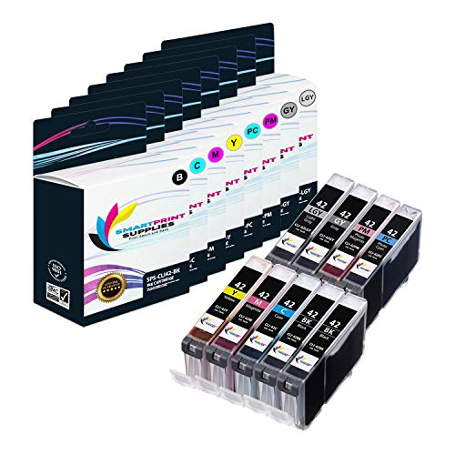 Smart Print Supplies Compatible CLI-42 CLI42 Ink Cartridge Replacement for Canon Pixma PRO-100 Printers (Black, Cyan, Magenta, Yellow, Photo Cyan, Photo Magenta, Gray, Light Gray)- 9 Pack