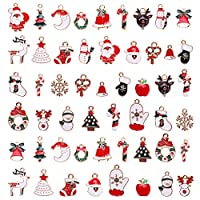 Kinbelle チャーム 52個 アクセサリー ネックレス/イヤリング/ペンダント/ジュエリー用 オーナメント DIY ハンドメイド 贈り物 クリスマス
