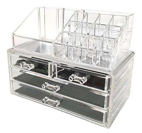 Sodynee Acrylic Makeup Organizer Cosmetic Organizer Jewelry and Cosmetic Storage Display Boxes