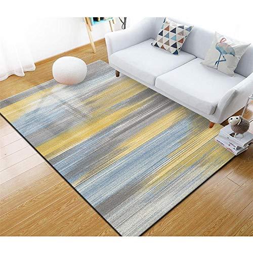 alfombras Infantiles niña Alfombra Exterior terraza Alfombra de salón Amarillo Azul, Resistente a la Suciedad, Suave y Antideslizante Gamer Decoracion 40X60CM