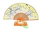 Ventiladores plegables de seda de bambú con cubierta de ventilador de seda hecha a mano Bolsas y caja de regalo Regalo de boda para niñas y mujeres