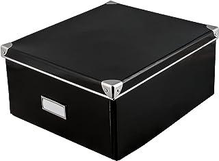 Idena 10520 - Boîte de rangement en carton robuste, couvercle renforcé par du métal, incluant un champ d'étiquetage, envir...