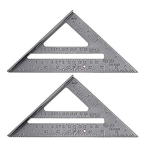 INTVN 2Aleación de aluminio 3D Herramienta De Medición Grados Carpintería Medición De ángulo De Inglete Cuadrado de Medición de ángulo de Carpintería 3D Herramienta De Medición