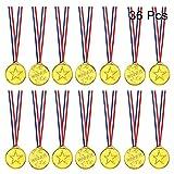 FEPITO 36 Piezas de medallas de Oro para niños, medallas de plástico para niños, medallas de Oro para decoración de Fiestas Infantiles y premios Deportivos