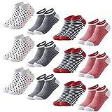 MOCOCITO Sportsocken Socken Baumwolle Herren Damen 12 Paar, Sneaker Klassische Socken aus Baumwolle Bequemere Atmungsaktive Rutschfest Running-Socken Laufsocken Größen 39-43 [Rot]