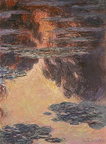 PLKIJ Puzzle Personalizzabili da 1000 pezzi Claude Monet-Effetto sera ninfea-Gioco di puzzle per adulti e adolescenti Giocattoli Regalo Decorazione per la casa Giocattoli fai da te per 75x50 cm