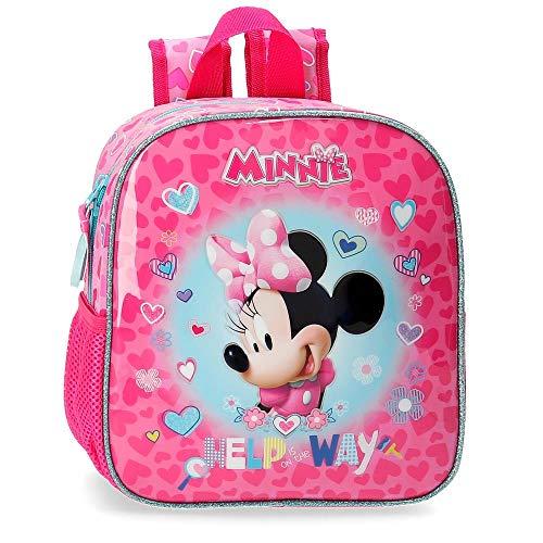 Disney Help on The Day Mochila Preescolar Minnie, Rosa, 23x25x10 cm