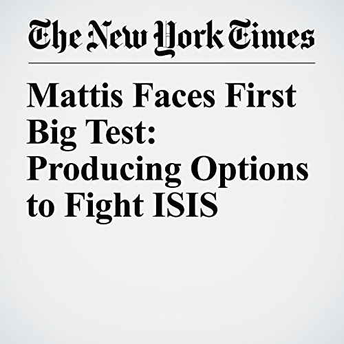 Mattis Faces First Big Test: Producing Options to Fight ISIS copertina